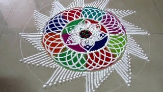 How to draw Sanskar bharati rangoli, colorful latest sanskar bharati rangoli design - Diwali Special