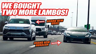 Buying 2 NEW LAMBORGHINIS SAME DAY! (And YOU can drive them!!!)