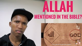 Non Muslim Reacts to 'Allah' Mentioned in the Bible
