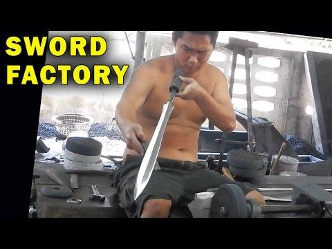 How Blacksmiths make Swords & Survival Knives in Thailand