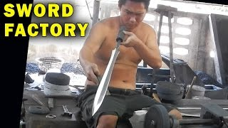 How Blacksmiths make Swords & Survival Knives in Thailand