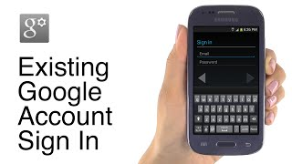 How to Sign In to an Existing Google Account on the Jitterbug Touch3 Smartphone