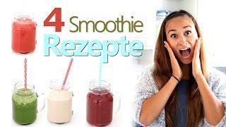4 Smoothie Rezepte - gesunde Frühstücks und Snackideen - Rohkost - Grüner Smoothie - Vitamix