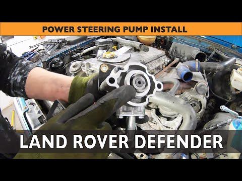 How to install Power Steering Pump on a Land Rover Defender TD5