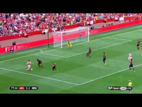 (Debut Alexis Sanchez) Arsenal Vs Benfica -2/8/2014-