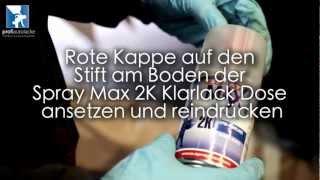 Zweischicht-Autolack mit Spraydose und 2K Klarlack Lackspray lackieren - by profiautolacke