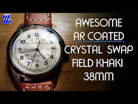 Hamilton Field Khaki 38mm AR Coated Sapphire Double Dome Swap - Crystal Times
