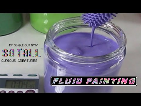 Making Fluid Paint & Testing Viscosity to Curious Creatures Latest Single So Tall