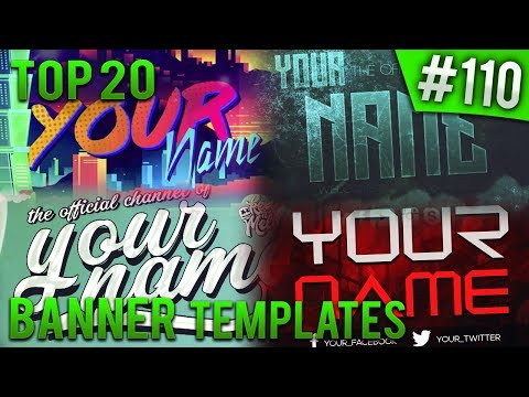 TOP 20 Photoshop banner templates #110 (Free download)