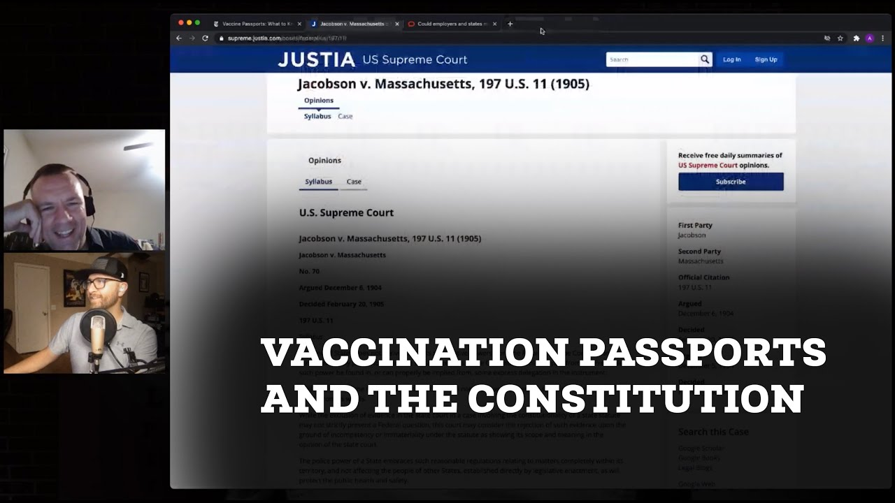 Vaccination Passports and the Constitution with Lawyer Jeromy West