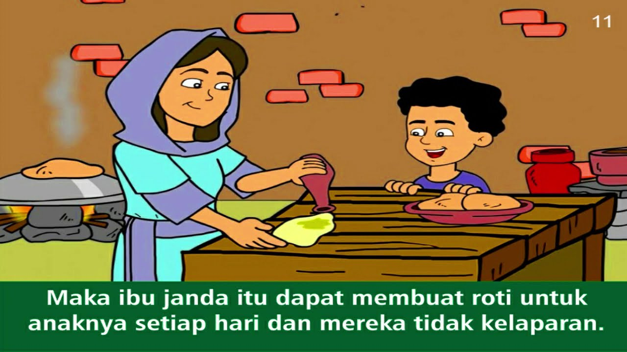 Komik Alkitab Anak Nabi Elia Dan Ibu Janda