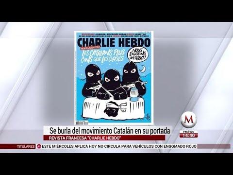 La revista Charlie Hebdo se burló de la independencia de Cataluña