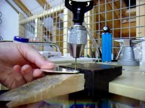 Silversmithing - drilling silver key fob