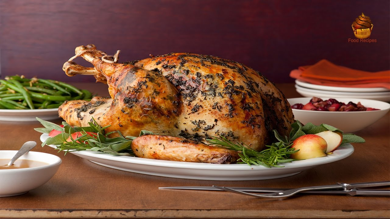 How to roasted whole turkey recipe easily youtube for Table 52 recipes
