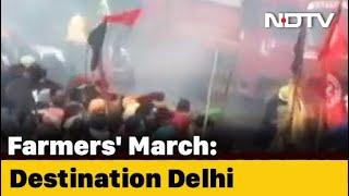 Farmers Protest: Massive Jams At Delhi-Gurgaon Border Amid Farmers' March Chaos In Haryana