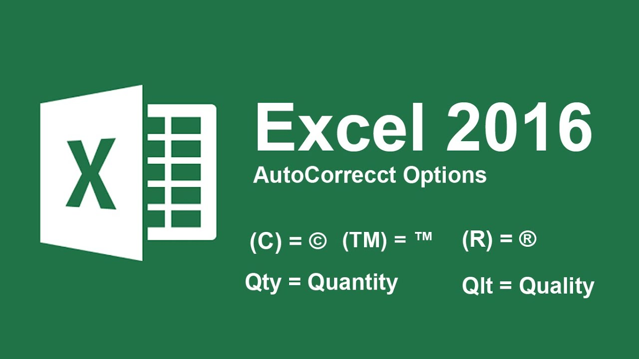 Use autocorrect options in excel 2016 as shortcut word or symbol use autocorrect options in excel 2016 as shortcut word or symbol buycottarizona Images