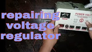 how to repair a voltage regulator(tagalog)