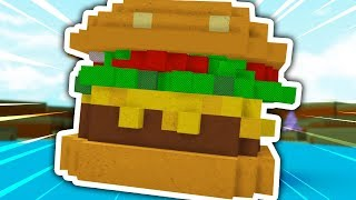 HOW TO BUILD A BURGER BOAT IN ROBLOX BUILD A BOAT FOR TREASURE!!