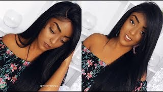 SENSATIONNEL HUMAN HAIR BLEND LACE FRONT WIG SILK BASED RACHEL  | Iza Marques