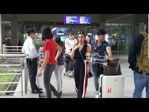Maine Mendoza arrival in NAIA Airport.