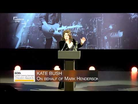 Kate Bush receives Editor