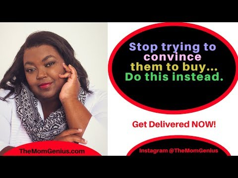 Stop trying to convince people to buy from you...instead do this!