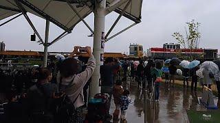 【公式イベントの目玉】JR貨物 名古屋港線を行くディーゼル機関車DE10+JR東海のディーゼル車キヤ97 ゆっくり通過シーン これも貨物列車です