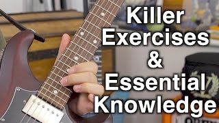 Four New Guitar Lessons - Killer Exercises & Essential Knowledge