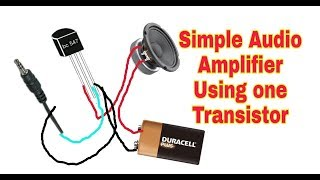 simple amplifier using only one bc547 transistor