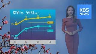 [날씨] 낮부터 한파 누그러져…서울 4도 / KBS뉴스…