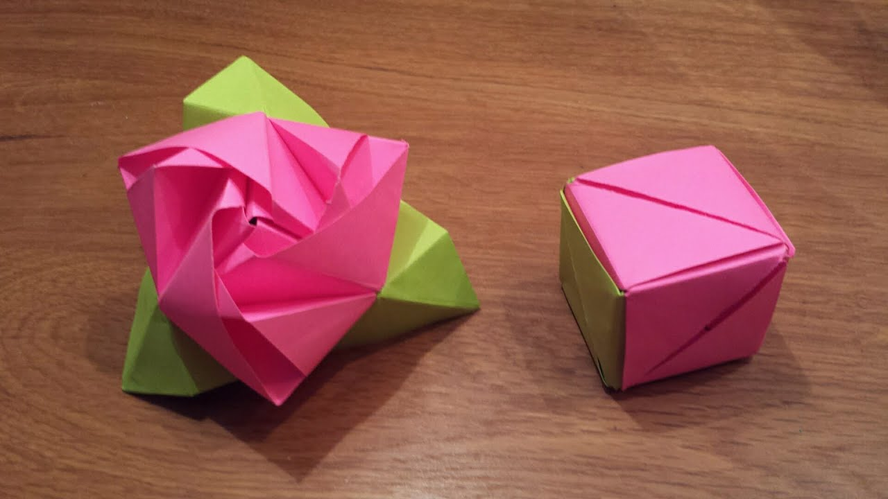 How To Make an Origami Magic Rose Cube (Valerie Vann ... - photo#1