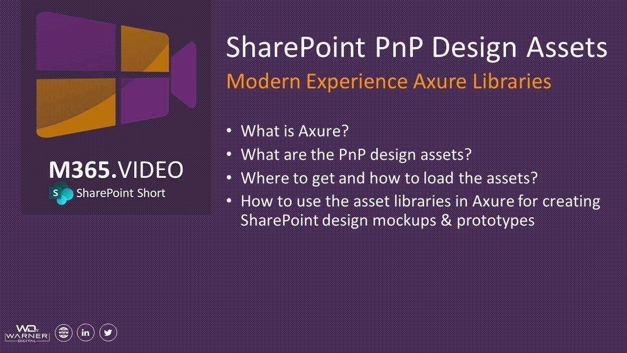 SharePoint PnP Design Assets - Introduction - Warner Digital