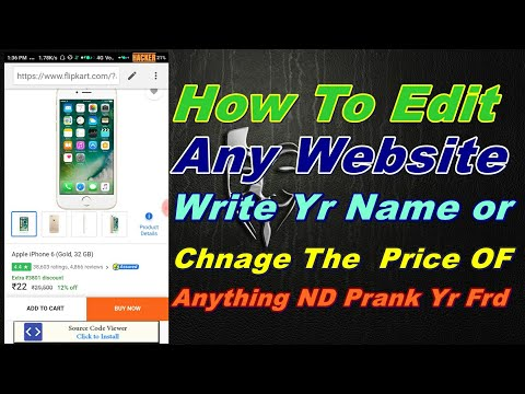 How To Edit Any Website nd Write Yr Name Or change