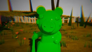 PAINTING ROBLOX PIGGY GREEN - Hello Neighbor Mod