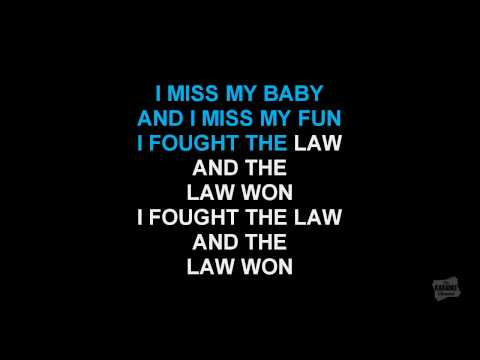 I Fought The Law in the style of Green Day karaoke video with lyrics