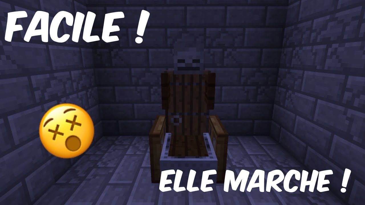 Tuto tuto chaise lectrique minecraft youtube for Chaise electrique