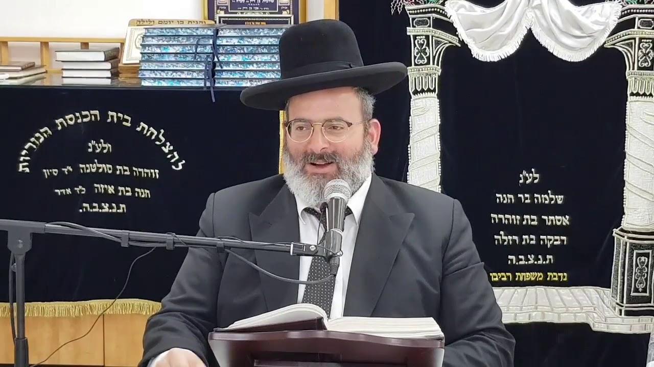 הרב יצחק לוי   רב העיר נשר   המשך הלכות יום טוב   בחוקותי תשעט