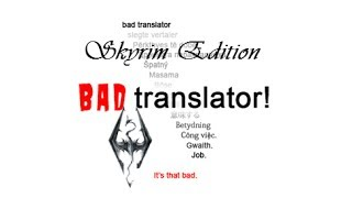 Badly Translated: Skyrim Announcement Trailer(Video image in your heart as soon as possible. (Skyrim became talked about as soon as the teaser trailer was shown, just imagine how popular it would have ..., 2014-02-17T06:58:42.000Z)