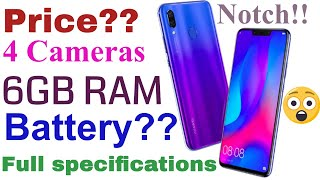 Huawei nova 3 & 3i looks, design,price,specification in Hindi