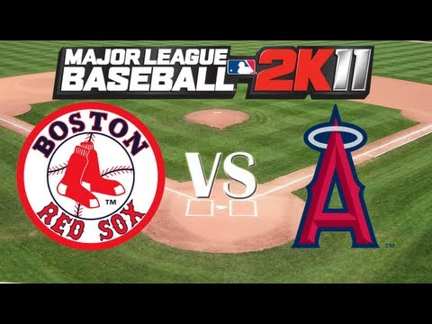 SEE ALBERT PUJOLS AND CJ WILSON AS ANGELS: MLB 2K11: Red Sox vs. Angels