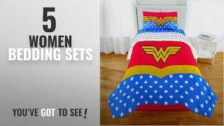 Top 10 Women Bedding Sets [2018]: 4 Piece Twin size Wonder Woman Bedding Set Includes 3pc Twin Sheet