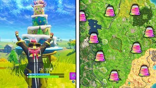 """""""Dance in front of different Birthday Cakes"""" Locations Fortnite Birthday Challenges Locations!"""