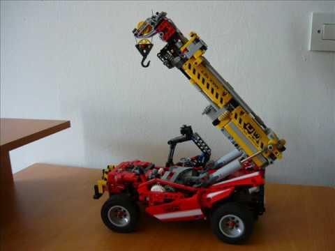 lego technic crane handler youtube. Black Bedroom Furniture Sets. Home Design Ideas