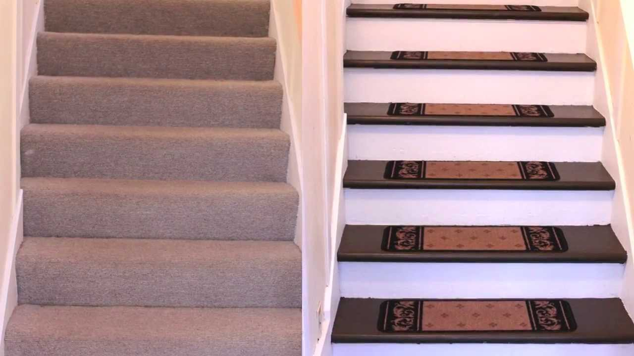 How To Renovate Carpeted Stairs To Hardwood Diy Youtube | Flooring For Stairs Not Carpet | Stair Tread | Stain | Staircase Makeover | Bullnose Carpet | Laminate Flooring