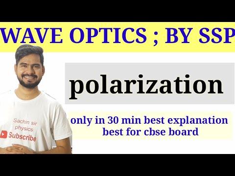 Polarization of light   wave optics   physics class 12
