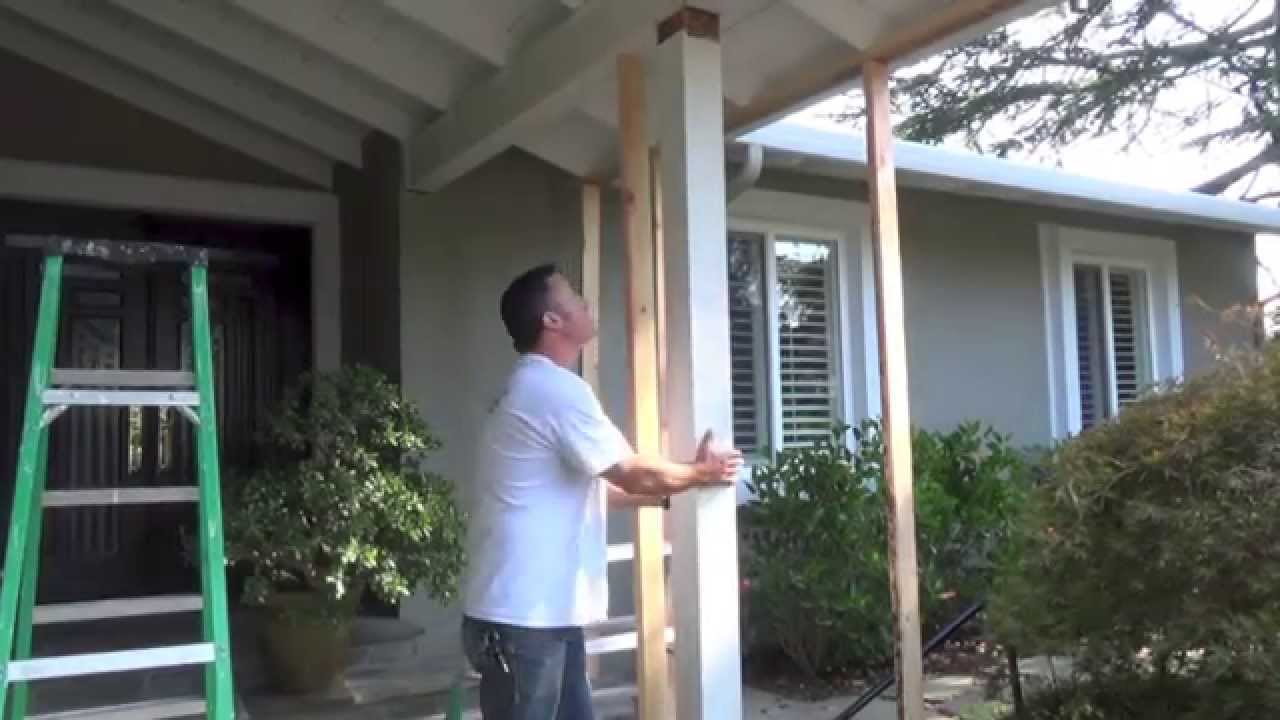 termite post beam replacement diy youtube. Black Bedroom Furniture Sets. Home Design Ideas