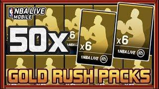 50 GOLD RUSH PACKS OPENING! | NBA LIVE MOBILE 19 S3 6X GOLD RUSH PLAYER PACKS