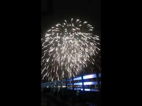 Super Bowl XLVIII halftime show fireworks