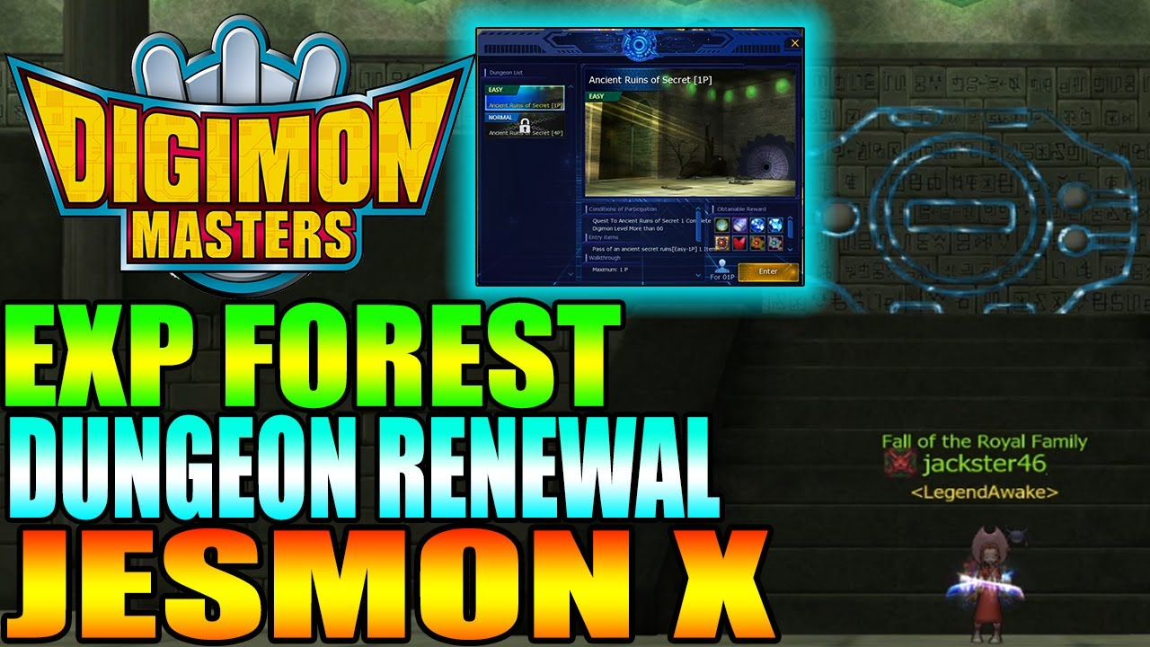 Jesmon X Exp Forest New Dungeons Dmo Leviamon Gdmo Youtube Selling dmo end game account  leviamon server  omni x, aox. dungeons dmo leviamon gdmo