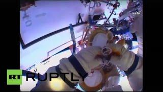 Выход российских членов экипажа МКС в открытый космос
